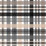 Beige, black and white tartan plaid Scottish pattern. Eps10 vector illustration