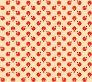 beige blom- röd textur Arkivbild