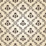 beige blom- seamless tappningwallpaper för bakgrund Arkivfoton