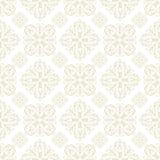beige blom- tegelplattawallpaper Royaltyfri Bild