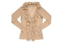 Beige blouse Stock Photography