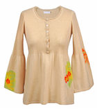Beige blouse Royalty Free Stock Images