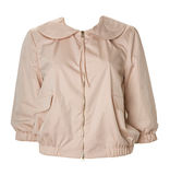 Beige blouse shirt jacket Stock Photography