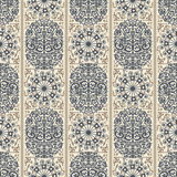 Beige and blue ancient vintage seamless ornamental texture. Vector illustration Royalty Free Stock Photo