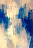 Beige with blue brush stroke background Royalty Free Stock Photos