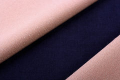 Beige and blue fabric Royalty Free Stock Photos
