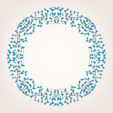 Beige and blue frame. Beautiful abstract ornate beige and blue frame Royalty Free Stock Photography