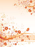 Beige Blumenhintergrund Lizenzfreie Stockfotos