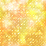 Beige abstract background with diagonal circles. Beige bokeh abstract glowing  background. Vector illustration Stock Photography