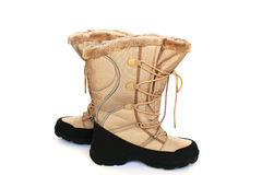 Beige boots royalty free stock photos