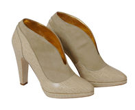 Beige boots Stock Images