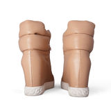 Beige boots with laces Stock Image