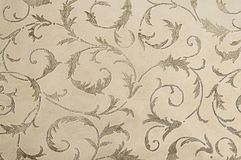 Beige botanical carpet pattern texture background. Close up Royalty Free Stock Photography