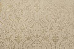 Beige botanical wallpaper background Stock Images