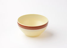 Beige bowl Stock Photography