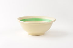 Beige bowl Royalty Free Stock Image