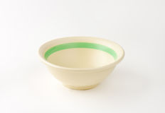 Beige bowl Royalty Free Stock Photography