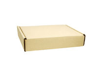 Beige box isolated Royalty Free Stock Photos