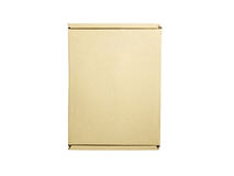 Beige box isolated Royalty Free Stock Images