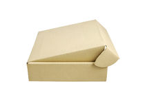 Beige box isolated Stock Photography