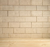 Beige brick background Stock Photography