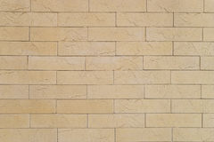 Beige brick background Royalty Free Stock Photo