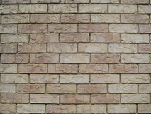 Beige Brick Wall Royalty Free Stock Image