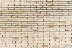 Beige brick wall background Royalty Free Stock Photo