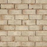 Beige brick wall background, texture Royalty Free Stock Photography