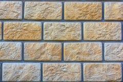 Beige brick wall background texture. Close up of beige brick wall texture Stock Images