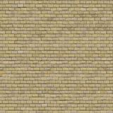 Beige Brick Wall. Seamless Tileable Texture. Stock Photo