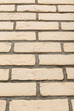 Beige brick wall texture Royalty Free Stock Photo