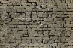 Beige bricks stock photo