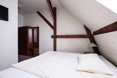 Beige and brown bedroom design Stock Photo
