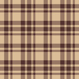 Beige brown check plaid seamless fabric texture Stock Photos