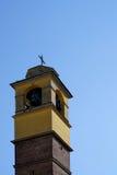 Beige-brown church steeple Royalty Free Stock Image