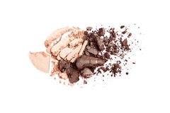 Beige and brown crushed eyeshadow Stock Photography
