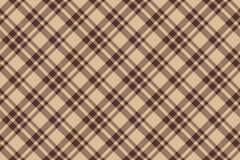 Beige brown diagonal check plaid seamless background. Vector illustration. EPS10 vector illustration