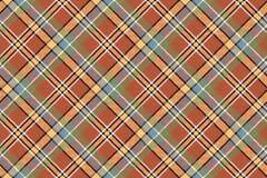 Beige brown diagonal plaid pixeled seamless background Stock Image