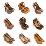 Beige-brown female shoes-2 Stock Photography