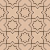 Beige and brown geometric seamless pattern. For web, textile and wallpapers Stock Image