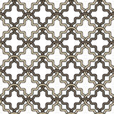 Beige and brown geometric shapes on a white background. Seamless pattern of geometric shapes forming a fishnet mesh Stock Photography
