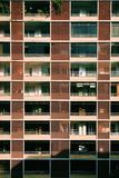Beige and Brown Painted High Rise Building Stock Photo