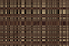 Beige and brown retro pattern Stock Images