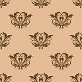 Beige and brown seamless pattern Stock Photos
