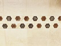 Beige Tiled Wall Background royalty free stock photos