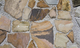 Beige and brown walkway bkgd Royalty Free Stock Image