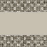 Beige brown x pattern with torn paper Royalty Free Stock Photo