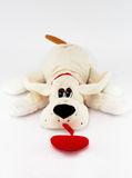 Beige bunny dog with red heart Stock Images