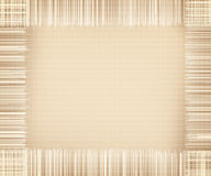 Beige canvas texture and tassels frame royalty free stock photo